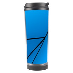 Technical Line Blue Black Travel Tumbler by Mariart