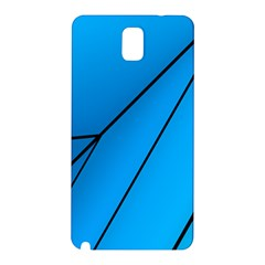 Technical Line Blue Black Samsung Galaxy Note 3 N9005 Hardshell Back Case by Mariart