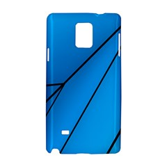Technical Line Blue Black Samsung Galaxy Note 4 Hardshell Case by Mariart