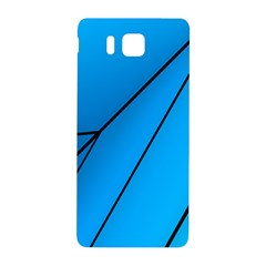 Technical Line Blue Black Samsung Galaxy Alpha Hardshell Back Case by Mariart