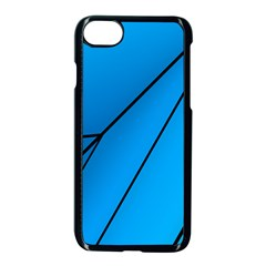 Technical Line Blue Black Apple Iphone 7 Seamless Case (black) by Mariart