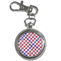 Webbing Wicker Art Red Bluw White Key Chain Watches by Mariart