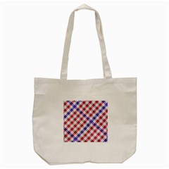 Webbing Wicker Art Red Bluw White Tote Bag (cream) by Mariart