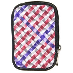 Webbing Wicker Art Red Bluw White Compact Camera Cases by Mariart