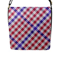 Webbing Wicker Art Red Bluw White Flap Messenger Bag (l)  by Mariart