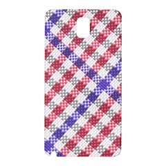 Webbing Wicker Art Red Bluw White Samsung Galaxy Note 3 N9005 Hardshell Back Case by Mariart