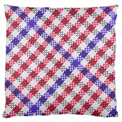 Webbing Wicker Art Red Bluw White Standard Flano Cushion Case (two Sides) by Mariart
