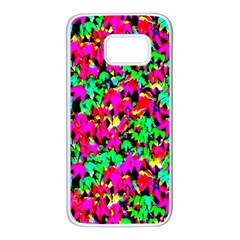 Colorful Leaves Samsung Galaxy S7 White Seamless Case by Costasonlineshop