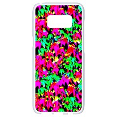 Colorful Leaves Samsung Galaxy S8 White Seamless Case by Costasonlineshop