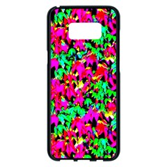 Colorful Leaves Samsung Galaxy S8 Plus Black Seamless Case by Costasonlineshop