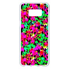 Colorful Leaves Samsung Galaxy S8 Plus White Seamless Case by Costasonlineshop