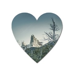 Fitz Roy Mountain, El Chalten Patagonia   Argentina Heart Magnet by dflcprints