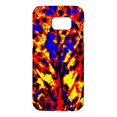 Fire Tree Pop Art Samsung Galaxy S7 Edge Hardshell Case by Costasonlineshop