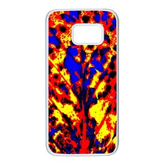 Fire Tree Pop Art Samsung Galaxy S7 White Seamless Case by Costasonlineshop
