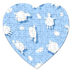 Vector Sheep Clouds Background Jigsaw Puzzle (heart) by Nexatart