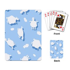 Vector Sheep Clouds Background Playing Card