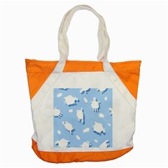 Vector Sheep Clouds Background Accent Tote Bag