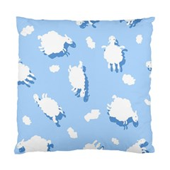 Vector Sheep Clouds Background Standard Cushion Case (one Side) by Nexatart