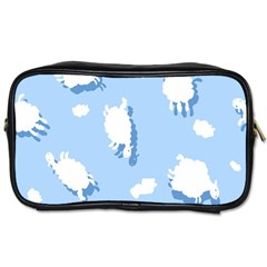 Vector Sheep Clouds Background Toiletries Bags by Nexatart