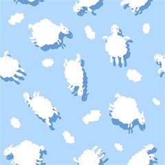 Vector Sheep Clouds Background Magic Photo Cubes