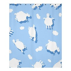 Vector Sheep Clouds Background Shower Curtain 60  X 72  (medium)  by Nexatart