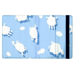 Vector Sheep Clouds Background Apple Ipad 3/4 Flip Case