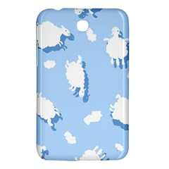 Vector Sheep Clouds Background Samsung Galaxy Tab 3 (7 ) P3200 Hardshell Case  by Nexatart
