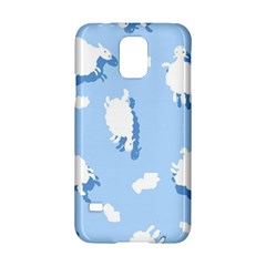Vector Sheep Clouds Background Samsung Galaxy S5 Hardshell Case  by Nexatart