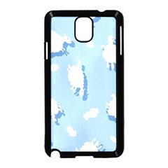 Vector Sheep Clouds Background Samsung Galaxy Note 3 Neo Hardshell Case (black)