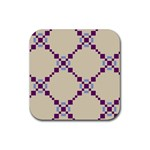 Pattern Background Vector Seamless Rubber Coaster (Square)  Front