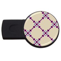 Pattern Background Vector Seamless Usb Flash Drive Round (2 Gb)