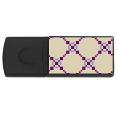 Pattern Background Vector Seamless Usb Flash Drive Rectangular (4 Gb) by Nexatart