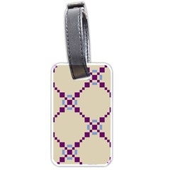 Pattern Background Vector Seamless Luggage Tags (one Side)  by Nexatart