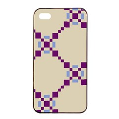 Pattern Background Vector Seamless Apple Iphone 4/4s Seamless Case (black)