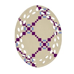 Pattern Background Vector Seamless Oval Filigree Ornament (two Sides) by Nexatart