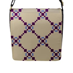 Pattern Background Vector Seamless Flap Messenger Bag (l)