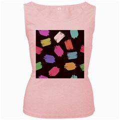Many Colors Pattern Seamless Women s Pink Tank Top