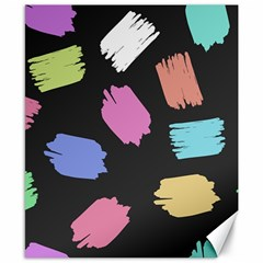 Many Colors Pattern Seamless Canvas 8  X 10  by Nexatart