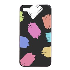 Many Colors Pattern Seamless Apple Iphone 4/4s Seamless Case (black) by Nexatart