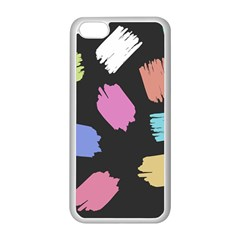 Many Colors Pattern Seamless Apple Iphone 5c Seamless Case (white) by Nexatart