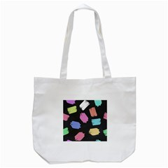 Many Colors Pattern Seamless Tote Bag (white)