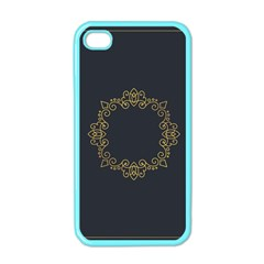 Monogram Vector Logo Round Apple Iphone 4 Case (color)