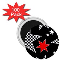 Stars Seamless Pattern Background 1 75  Magnets (100 Pack)