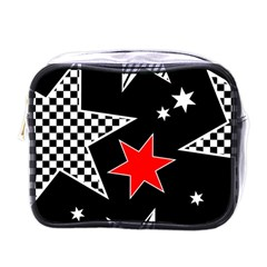 Stars Seamless Pattern Background Mini Toiletries Bags by Nexatart