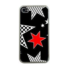 Stars Seamless Pattern Background Apple Iphone 4 Case (clear) by Nexatart