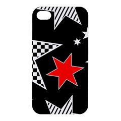 Stars Seamless Pattern Background Apple Iphone 4/4s Premium Hardshell Case by Nexatart