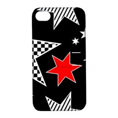 Stars Seamless Pattern Background Apple Iphone 4/4s Hardshell Case With Stand by Nexatart