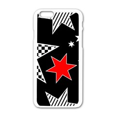Stars Seamless Pattern Background Apple Iphone 6/6s White Enamel Case