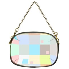 Pastel Diamonds Background Chain Purses (one Side)  by Nexatart
