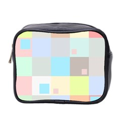 Pastel Diamonds Background Mini Toiletries Bag 2 Side by Nexatart